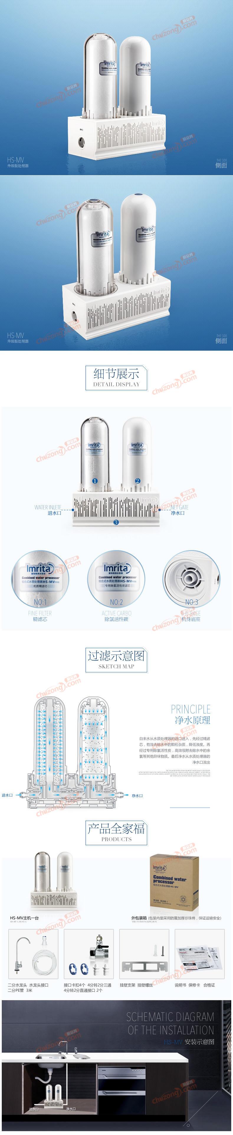 爱玛特组合式水质处理器HS-MV详情图