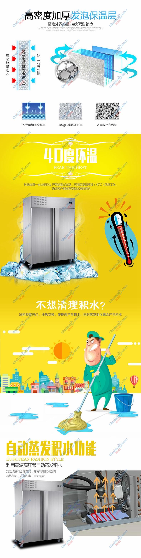 GN盆大二门面团冷冻柜